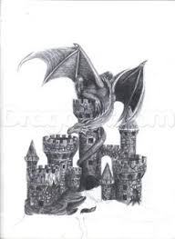castle drawing how to draw a dragon and castle my drawing