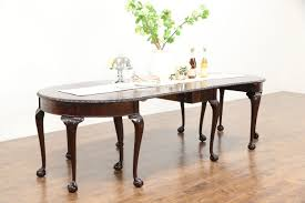 georgian carved mahogany antique 3 pc console u0026 banquet dining