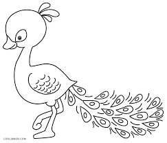 printable peacock coloring pages kids cool2bkids