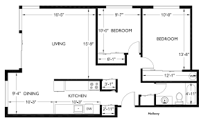 House Plans 2 Bedroom Simple 2 Bedroom Floor Plans Open Plan But I Think Would Lengthen