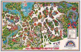 6 Flags Map At Six Flags Great Adventure