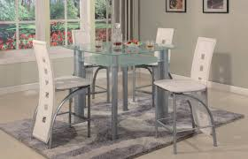 white 5 pc metro counter height glass set dining room sets