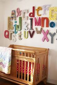 Letter Decorations For Walls Elin U0027s Vintage Modern Nursery Cardboard Letters Alphabet Wall