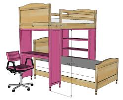Bed Loft With Desk Plans by Ana White Chelsea Bunk Bed System Desk Or Bookshelf Supports