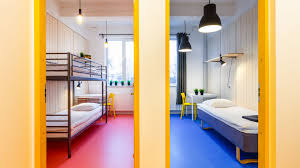 Hostel Bunk Beds Two Rooms With Bunk Beds And A Shared Bathroom Hektor Design Hostels