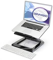 ergonomic laptop stand folds flat for convenient storage