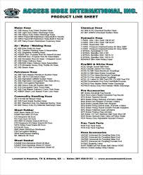 7 line sheet templates free sample example format download