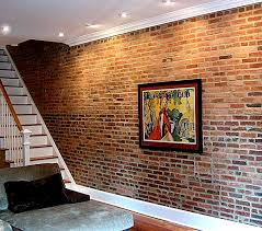 exposed brick wall lighting inspiration decorations stylish basement cave man decors ideas with