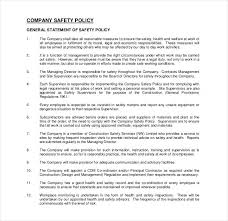 26 policy template samples free pdf word format download