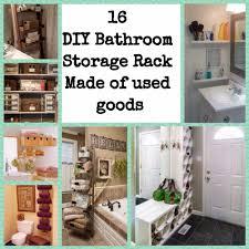 Diy Bathroom Storage 16 Diy Bathroom Storage Rack Made Of Used Goods Wartaku Net