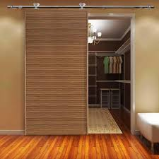 Laminate Flooring Doorway Winsoon 5 8ft Single Sliding Barn Door Hardware Stainless 304