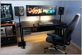 Dual Monitor Computer Desks Computer Desk For Dual Monitors Desk Monitor Desktop