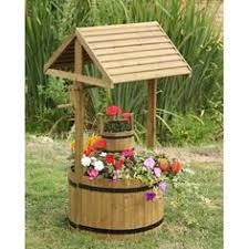 Wishing Well Garden Decor Country Garden Rustic Natural Wood Quaint U0026 Nostalgic Wishing Well
