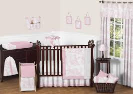 sweet jojo designs pink toile collection 11pc baby crib bedding