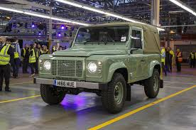 Final Land Rover Defender Rolls Off Assembly Line