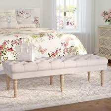 grey bedroom benches you u0027ll love wayfair
