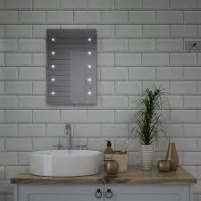 Battery Bathroom Mirror by My Furniture Round Led Illuminated Bathroom Mirror Demister