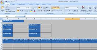 bug report template xls defect report template xls professional and high quality templates