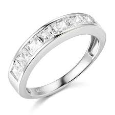 channel set wedding band 14k yellow or white gold solid channel set wedding