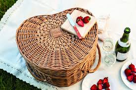 picnic basket ideas picnic time heart willow picnic basket with deluxe