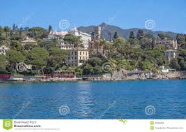 Portofino Italy Map Santa Margherita Ligure Near Portofino Liguria Italy Stock Photos