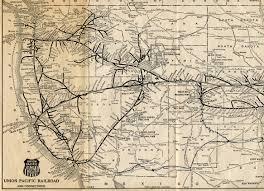 Old United States Map by Pacific Union Trains 1925 Union Pacific Railroad Map Part 1 See