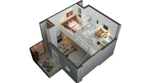 3d plan of a two bedroom house architecture 3d modern two story