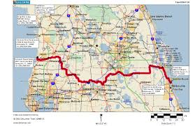 Route 95 Map by Cycling Routes Crossing Florida