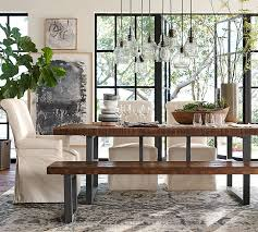 Pottery Barn Dining Room Furniture Griffin Reclaimed Wood Dining Bench Pottery Barn