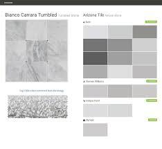 bianco carrara tumbled tumbled stone natural stone arizona tile