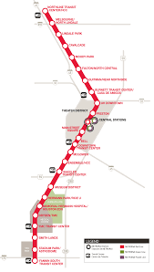 light rail schedule w line metrorail red line map schedules