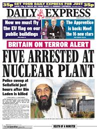 Dominos Pizza Compiegne by Daily Express Wednesday May 4 2011 Osama Bin Laden