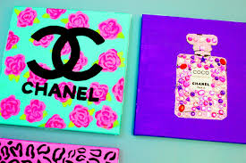 chanel perfume bottle diy painting cute easy girly u0026 fun