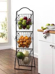 amazon com gourmet basics by mikasa 3 tier metal market basket