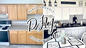 kitchen makeover with cabinets kitchen makeover 30 diy rental friendly
