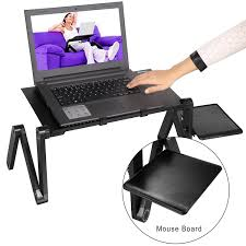 Portable Laptop Desk On Wheels by Amazon Com Homdox Portable Laptop Stand Table With Adjustable