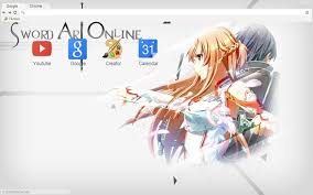theme google chrome sword art online sword art online asuna and kirito 1920x1080 chrome web store