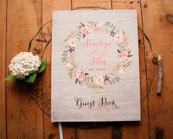wedding guestbook boho guest book rustic wedding guest book floral guest book