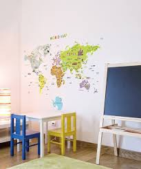 ambiance sticker giant world map wall decal set zulily giant world map wall decal set
