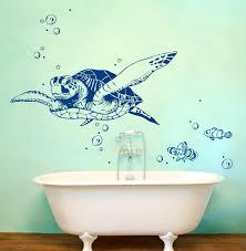 wandtattoos badezimmer wandtattoo wandtattoo schildkröte fische wanddeko bad m1533