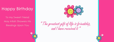 happy birthday to my swet friend quotations facebook cover photo