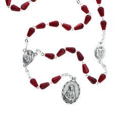 seven sorrows rosary tear drop seven sorrows chaplet the catholic company