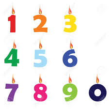 number birthday candles collection of wax birthday candles numbers from zero to nine