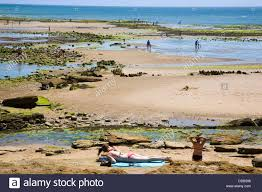 france 85 jard sur mer beach veillon stock photo royalty free