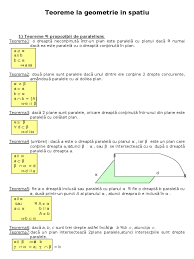teoreme la geometrie spatiu