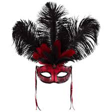 halloween city masks temptation feather mask big w