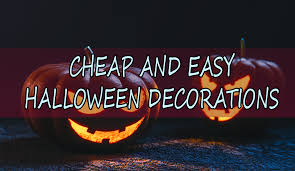 Halloween Flood Lights by Cheap And Easy Halloween Decorations In 2016 Tiny Spaces Living