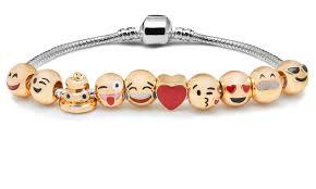 croton emoji charm bracelet 18k yellow gold plated ebay