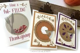 thanksgiving pie shaker cards