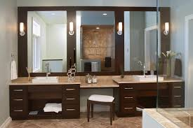 Bathroom Vanities And Cabinets Clearance decorations custom design of double vanity with makeup area